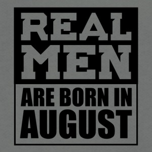 Real Men are Born in August - Unisex Fleece Zip Hoodie by American Apparel