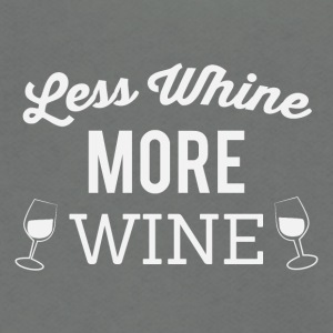 Less whine more wine - Unisex Fleece Zip Hoodie by American Apparel