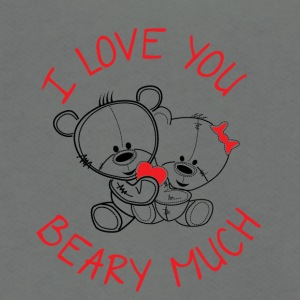 I live you beary much - Unisex Fleece Zip Hoodie by American Apparel