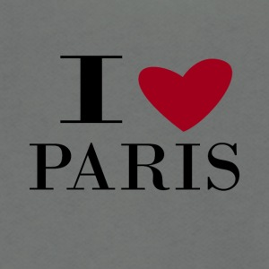 I love Paris - Unisex Fleece Zip Hoodie by American Apparel