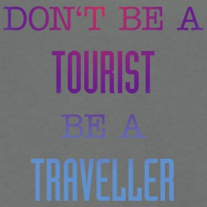 Don't be a tourist be a traveller. - Unisex Fleece Zip Hoodie by American Apparel