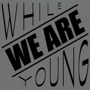 While we are young - Unisex Fleece Zip Hoodie by American Apparel