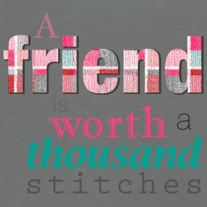 Friends Are Worth Stitches Set - Unisex Fleece Zip Hoodie by American Apparel