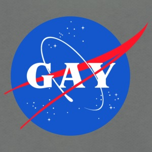 Nasa Gay Pride Logo - Unisex Fleece Zip Hoodie by American Apparel