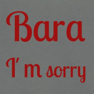 Bara I'm sorry - [red text] - Unisex Fleece Zip Hoodie by American Apparel