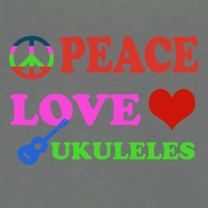 Peace Love Ukulele - Unisex Fleece Zip Hoodie by American Apparel