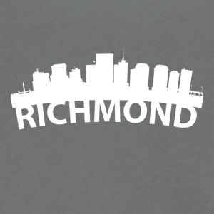 Arc Skyline Of Richmond VA - Unisex Fleece Zip Hoodie by American Apparel