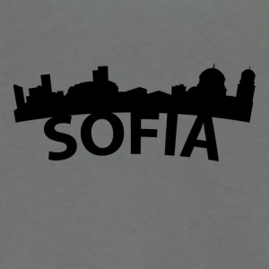 Arc Skyline Of Sofia Bulgaria - Unisex Fleece Zip Hoodie by American Apparel