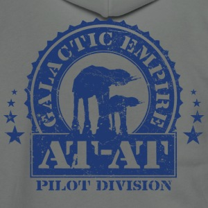 Galactic Empire AT-AT Pilot Division - Unisex Fleece Zip Hoodie by American Apparel