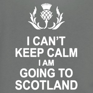 I CAN'T KEEP CALM I AM GOING TO SCOTLAND - Unisex Fleece Zip Hoodie by American Apparel
