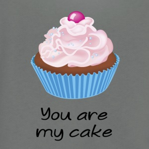 you are my cake - Unisex Fleece Zip Hoodie by American Apparel