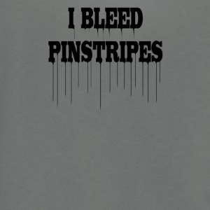 I bleed pinstripes new york - Unisex Fleece Zip Hoodie by American Apparel