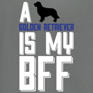 A Golden Retriever Is My Bff T Shirt - Unisex Fleece Zip Hoodie by American Apparel