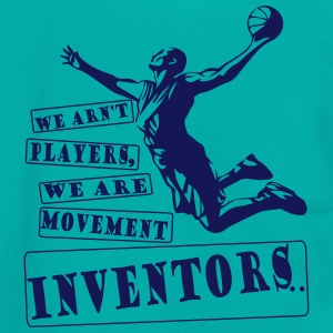 Basketball Movement inventors - Unisex Fleece Zip Hoodie by American Apparel