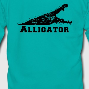 Alligator with Open Mouth - Unisex Fleece Zip Hoodie by American Apparel