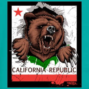 California Bear - Unisex Fleece Zip Hoodie by American Apparel