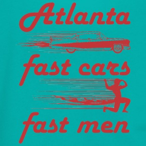 atlanta fast cars fast men - Unisex Fleece Zip Hoodie by American Apparel