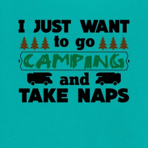 I just want to go camping and Take Naps Tee Shirt - Unisex Fleece Zip Hoodie by American Apparel