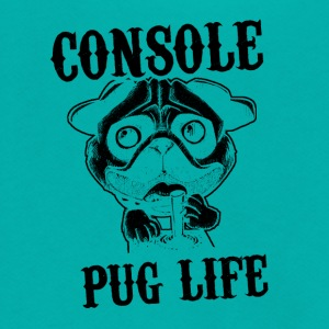 Console pug life - Unisex Fleece Zip Hoodie by American Apparel