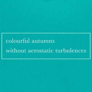 Colourful autumns without aerostatic turbulences - Unisex Fleece Zip Hoodie by American Apparel
