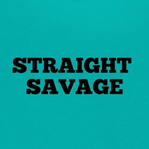 STRAIGHT SAVAGE - Unisex Fleece Zip Hoodie by American Apparel