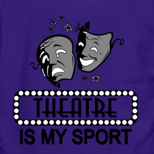 Theatre Is My Sport. - Unisex Fleece Zip Hoodie by American Apparel