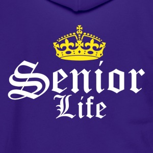 Senior Life - Unisex Fleece Zip Hoodie by American Apparel