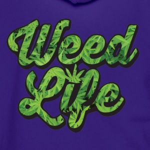 weedlife - Unisex Fleece Zip Hoodie by American Apparel