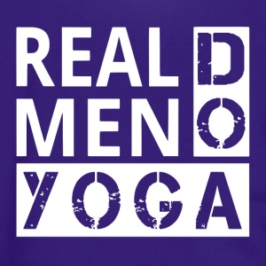Real men Do Yoga - Unisex Fleece Zip Hoodie by American Apparel