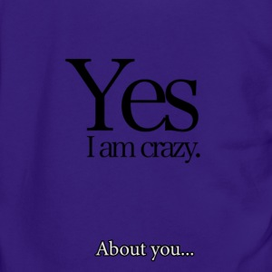 Crazy about You! - Unisex Fleece Zip Hoodie by American Apparel