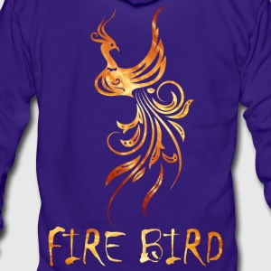 FIre bird on your shirt - Unisex Fleece Zip Hoodie by American Apparel