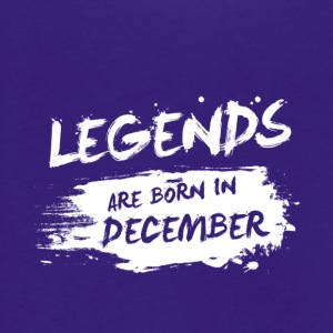 Legends are born in December - Unisex Fleece Zip Hoodie by American Apparel