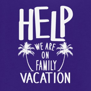 Help We Are On Family Vacation - Unisex Fleece Zip Hoodie by American Apparel