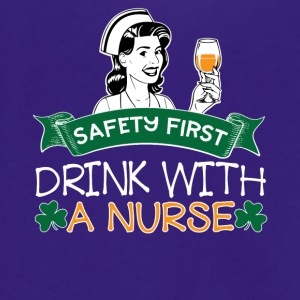 07 SAFETY FIRST DRINK WITH A NURSE - Unisex Fleece Zip Hoodie by American Apparel