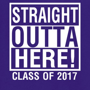Straight Outta Here Graduation shirt Class of 2017 - Unisex Fleece Zip Hoodie by American Apparel
