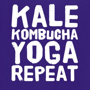 Kale kombucha yoga repeat - Unisex Fleece Zip Hoodie by American Apparel
