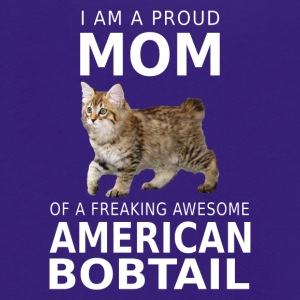 American Bobtail Cat Mom-Proud mother shirt,hoodie - Unisex Fleece Zip Hoodie by American Apparel