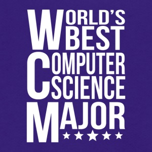 World's Best Computer Science Major - Unisex Fleece Zip Hoodie by American Apparel