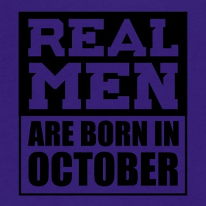 Real Men are Born in October - Unisex Fleece Zip Hoodie by American Apparel