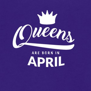 Queens are born in April - Unisex Fleece Zip Hoodie by American Apparel