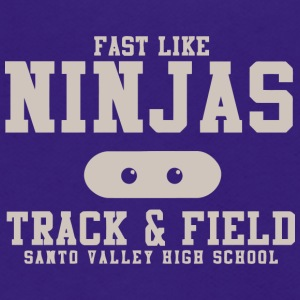 Fast Like Ninjas Track Field Santo Valley High S - Unisex Fleece Zip Hoodie by American Apparel
