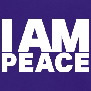 I Am Peace - Ivy Design (White Letters) - Unisex Fleece Zip Hoodie by American Apparel