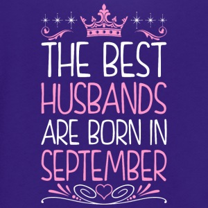 The Best Husbands Are Born In September - Unisex Fleece Zip Hoodie by American Apparel