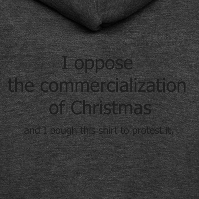 Christmas Commercialization Ladies T
