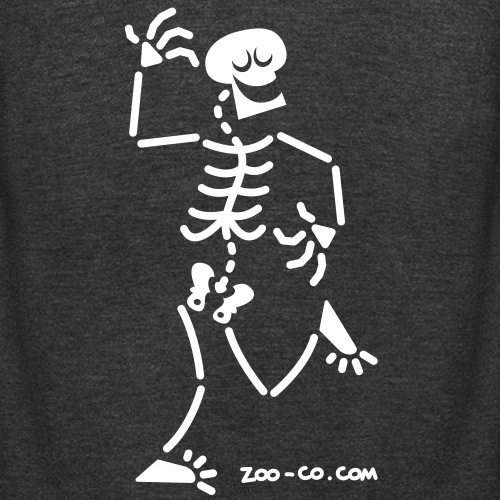 Dancing Skeleton - Unisex Fleece Zip Hoodie