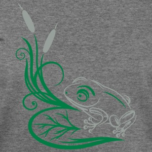 Big frog in the reeds, tattoo design. - Women's Wideneck Sweatshirt