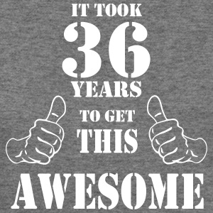 36th Birthday Get Awesome T Shirt Made in 1981 - Women's Wideneck Sweatshirt