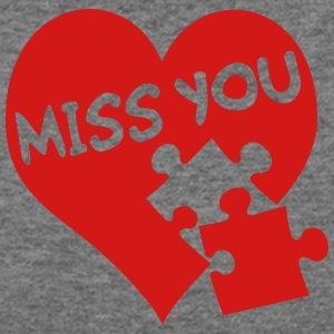 miss you / love - Women's Wideneck Sweatshirt