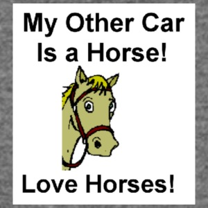 Horse T-shirt My other Car is a Horse - Women's Wideneck Sweatshirt