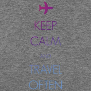 Keep calm and travel often - Women's Wideneck Sweatshirt